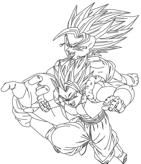 dragon ball z gogeta coloring pages vegetto e gogeta by uchiha itasuke on deviantart