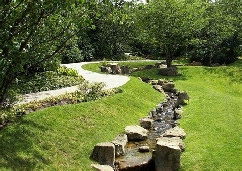 Wasserrinne Garten