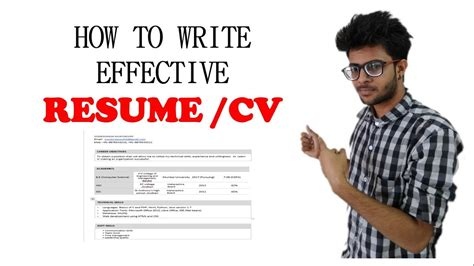 how to write a resume cv effectively for freshers in