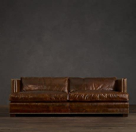 restoration hardware modena leather sofa this is a leather sofa from restoration hardware that i
