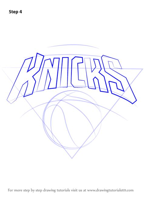 learn how to draw new york knicks logo nba step by step