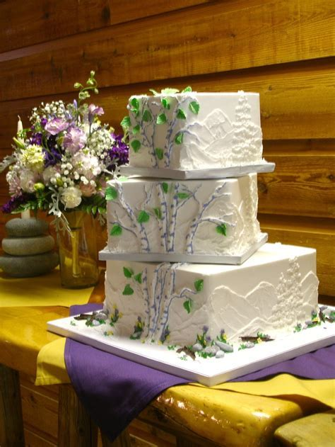 1000  images about Aspen Tree Wedding Cakes on Pinterest