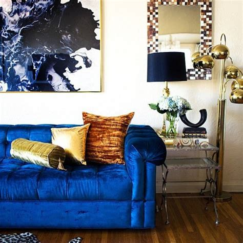velvet home decor 21 different style to decorate home with blue velvet sofa