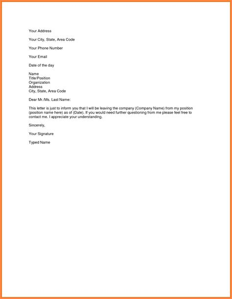 one month notice template 4 resignation letter 1 month notice sles notice letter