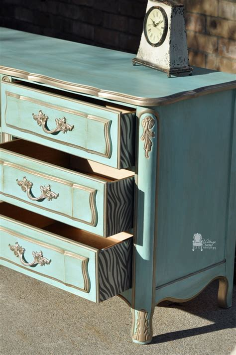 a dixie provincial dresser makeover by vintage charm restored