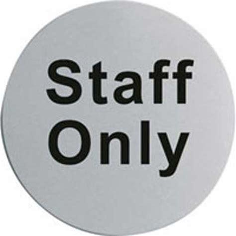 Kitchen Island Steel door notices staff only stainless steel door sign