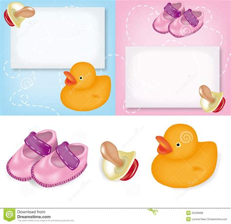 clipart nascita cartoline d auguri per la nascita fotografie stock libere