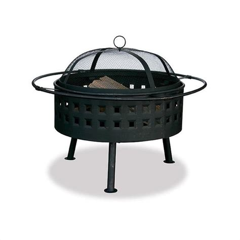 24 Inch Pit 24 inch aged bronze wood burning pit with square design wad997sp