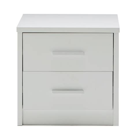 White High Gloss Bedside Drawers by Venus Brand New White High Gloss Bedside Table Stand