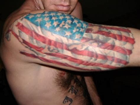 american flag tattoo shoulder chrissy krogmeier on
