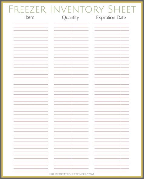 free printable menu planner shopping list inventory sheets free printables from premeditated leftovers