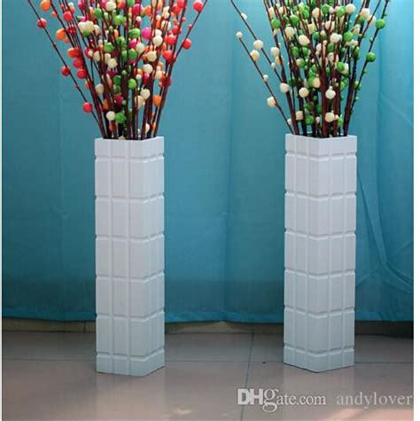 real wood floor large vases flower arrangement household