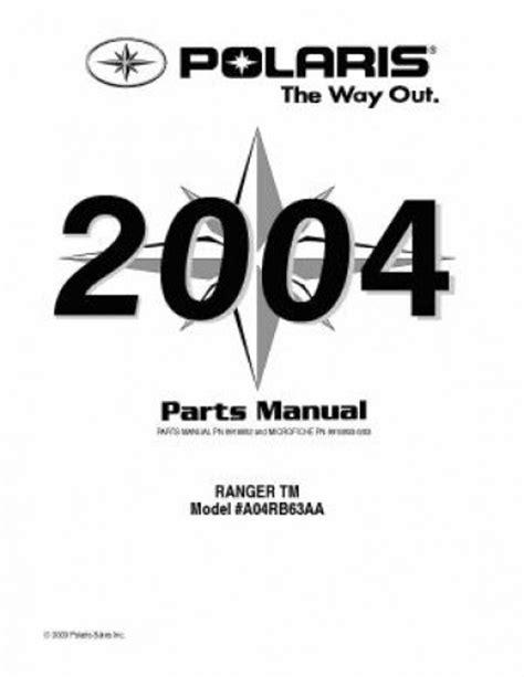 polaris ranger tm parts manual