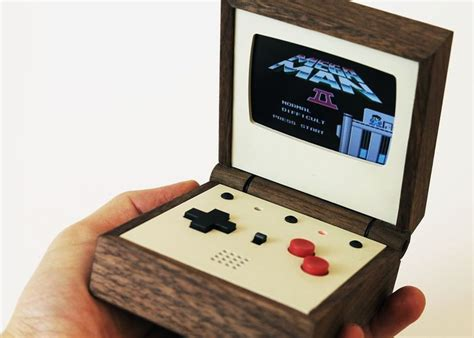 handheld emulator console pixel vision awesome handmade wooden portable gaming