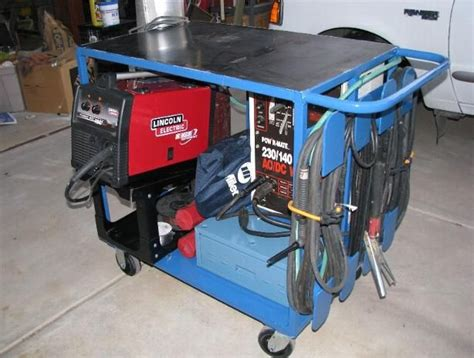 metal fabricating equipment storage and cool welding cart workbench with stick mig and some storage projects h2os garage