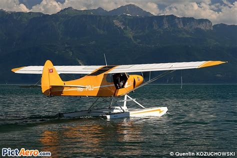Piper pa 18 150 super cub private floatplanes pinterest