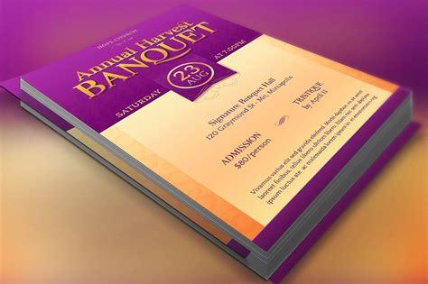 Church Banquet Flyer Template Flyer Templates Creative Market Banquet Flyer Template
