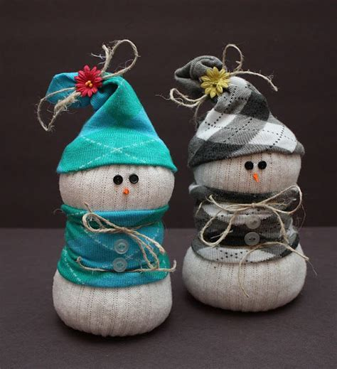 sock snowman without rice socks and snowman on
