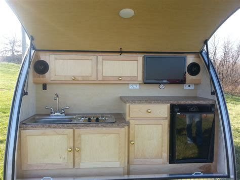 cer trailer kitchen ideas teardrop cer kitchens the small trailer enthusiast