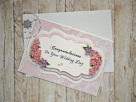 Handmade Wedding Cards Congratulations - congratulations on your wedding day