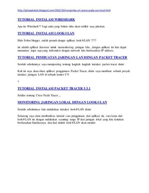 tutorial menggunakan aplikasi wireshark mengintip url situs website dengan wireshark