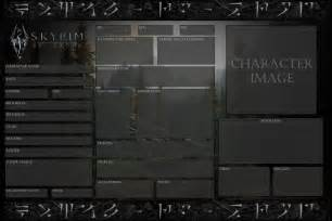 rp bio template skyrim rp official character sheet blank by