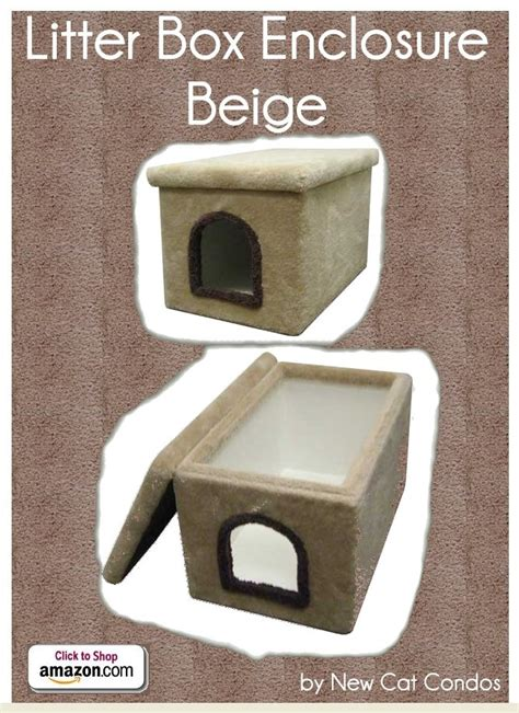 cat using bathroom outside litter box litter box enclosure beige by new cat condos carpeted