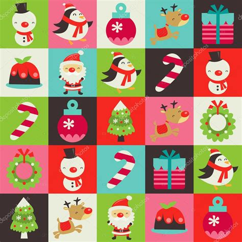 cute pattern tile retro cute christmas tiles pattern background stock