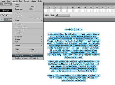flash tutorial text text effects flash mx