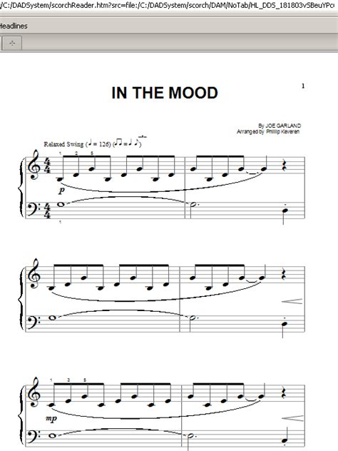tutorial piano in the mood in the mood sheet music by phillip keveren piano big