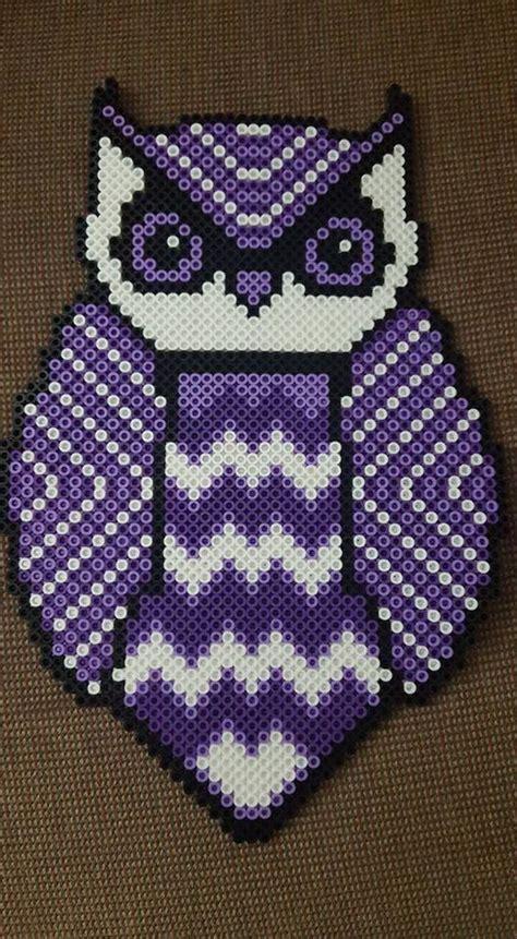perler bead patterns owl owl perler by ladyraveicorn cross stitch