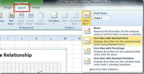 excel layout error bars excel 2010 error bars