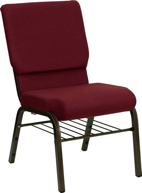 cheap church chair from hercules burgundy w book rack