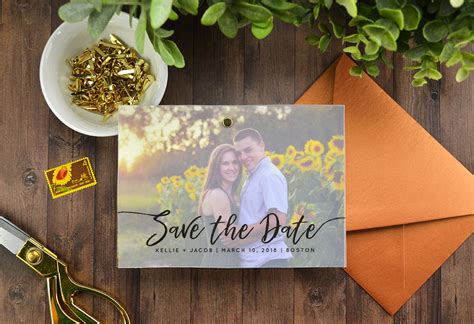 Handmade Save The Dates - diy layered vellum save the date cards cards pockets