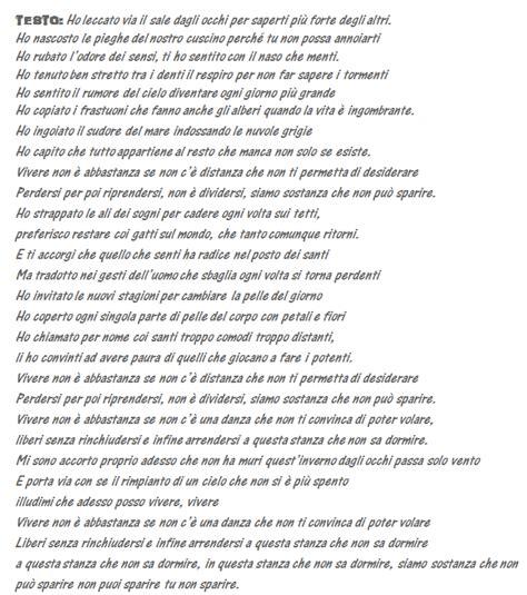 negramaro testi canzoni negramaro nel testo de il posto dei santi il poetico