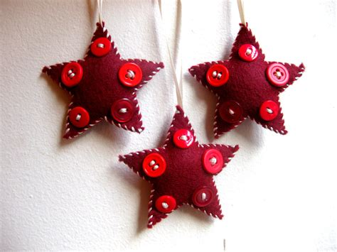 star christmas ornaments felt ornament handmade felt star