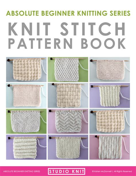 the knit stitch book how to knit the 1x1 rib stitch pattern with tutorial