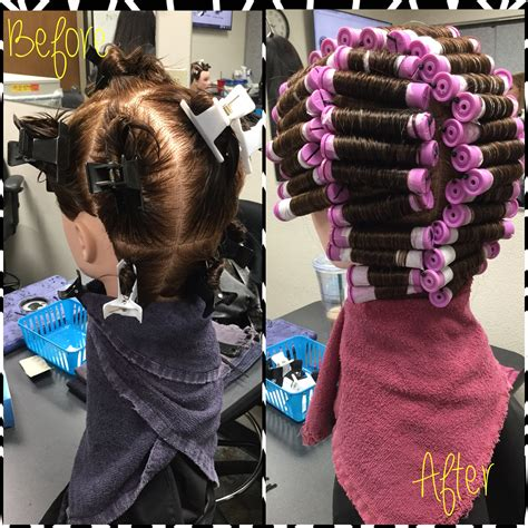 9 section perm this service included a basic straight back perm wrap