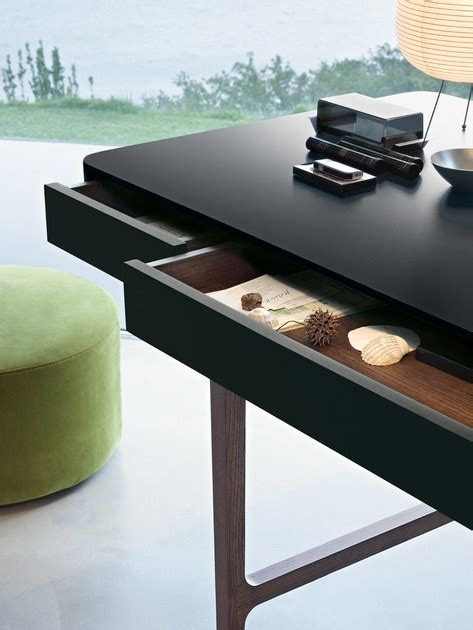 solid wood writing desk with drawers solid wood writing desk with drawers victor by lema design