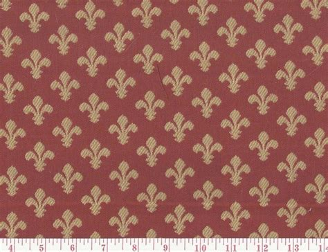 fleur de lis upholstery fabric reversible red gold woven upholstery fabric fleur de lis
