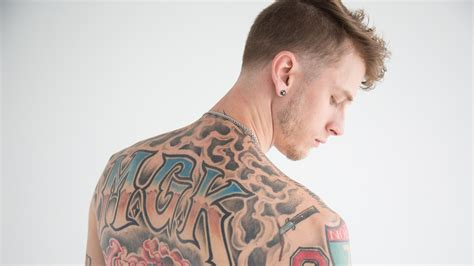 mgk back tattoo machine gun the whose tattoos you ll be seeing