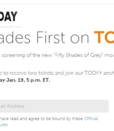 Today Show Sweepstakes - today show fifty shades first on today sweepstakes sweeps maniac