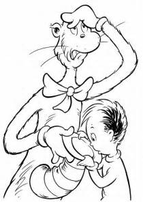 7 picture dr seuss hat coloring pages