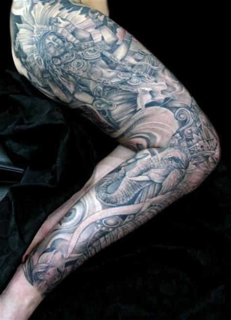 religious leg tattoos for men leg religious by mancia tattoos