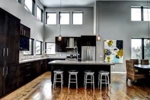 warm and grey kitchen cabinets ideas