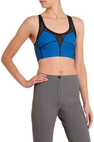 Vogo Stretch Jersey Sport Bra mover stretch jersey and mesh sports bra net a porter