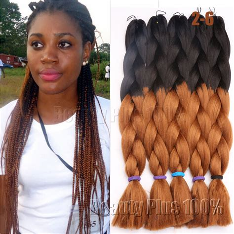 braiding hairstyles with xpression braiding hair hair aliexpress com buy 5packs 24 quot 100g xpression braiding