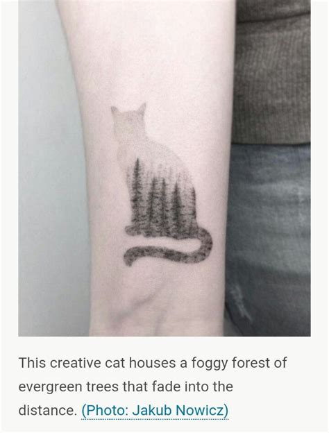 cat silhouette tattoo pine trees in foggy cat silhouette thoughts on