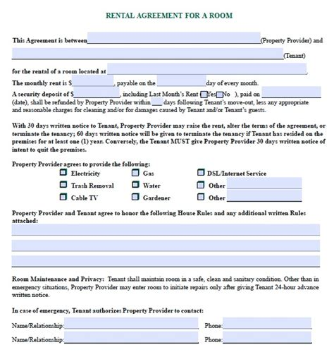 room rental contract template free uk budgames