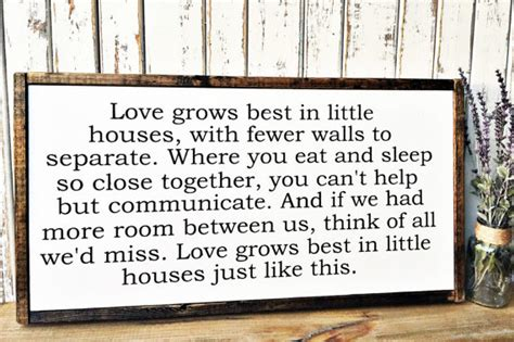 love grows best in little houses love grows best in little houses wood sign by thewoodgrainhome